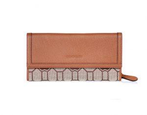 코스모폴리탄 패턴 자가드 장지갑 (CP12W103FJ)