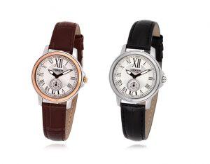 CPL1416 (브라운-로즈골드콤비) 남성 여성 커플 가죽 시계
